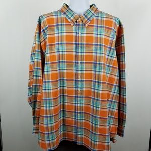 Ralph Lauren Oxford Yellow Blue Plaid 5XB 5XL BIG